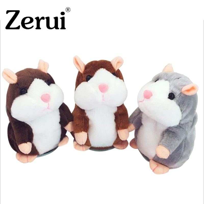 Dropshipping Talking Hamster Falante Mouse Pet Plush Toy Cute Talking Sound Record Educational Stuffed Doll Children Gifts 15cm - MBMCITY