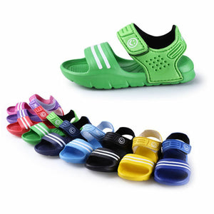 1 Pair Kids Shoes Casual Children Kids Shoes Baby Boy Closed Toe Summer Beach Sandals Flat Flat Breathable Beach Slip-On Shoes - MBMCITY