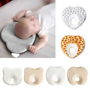 Hot Infant Anti Roll Toddler Pillow Shape Toddler Sleeping Positioner Cushion Flat Head Protect Newborn Almohadas Baby Bedding.