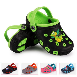 Children Mules Clogs Kids Summer Garden Shoes Girl Boy Beach Shoes Candy Color Hole Baby Shoes EUR24-35 - MBMCITY