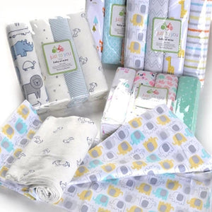 4Pcs/Lot Muslin 100% Cotton Flannel Baby Swaddles Soft Newborns Blankets Baby Blankets Newborn Muslin Diapers Baby Swaddle Wrap.