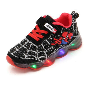 Boys Sneaker Girls Spiderman Kids Led Shoes With Lights Sneaker 2020 Spring Autumn Shoes Children Toddler Baby Girl Shoes - MBMCITY
