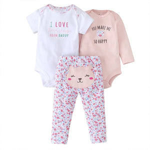 baby boy girl clothes cartoon set long sleeve o-neck bodysuit+pants newborn clothing unisex new born costume cotton 2020 - MBMCITY