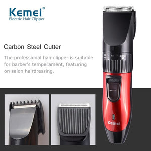 KEMEI Multifunction Rechargeable Hair Clipper For Men Waterproof Wireless Electric Shaver Beard Nose Ear Shaver Hair TrimmerTool.