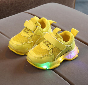 Kids Shoes Luminous Autumn Toddler Boys Glowing Sneakers Child Sports Shoes For Baby Girls Led Sneaker With Light Running Shoes - MBMCITY