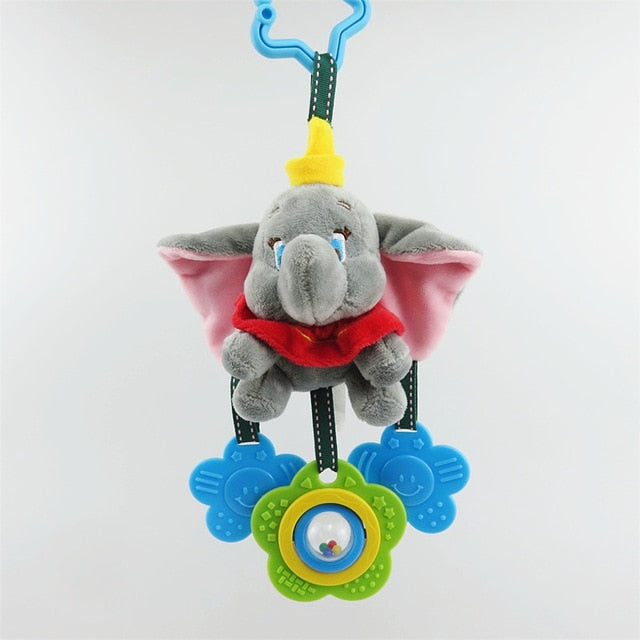 Cartoon stitch elephant donkey plush toys baby rattle Hand Bell Baby Stroller Crib Hanging Rattles Christmas birthday gifts - MBMCITY