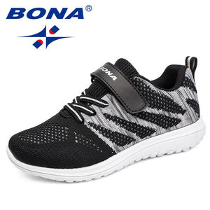BONA New Arrival Popular Style Children Casual Shoes Mesh Sneakers Boys & Girls Flat Child Running Shoes Light Fast Free Shippin - MBMCITY