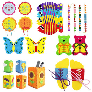 Teaching Kindergarten manual Diy Weave cloth Early Learning Education Toys Montessori Teaching Aids Math Toys