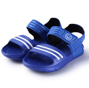 Pudcoco 1 Pair Casual Children Kids Shoes Baby Boy Closed Toe Summer Beach Sandals Flat