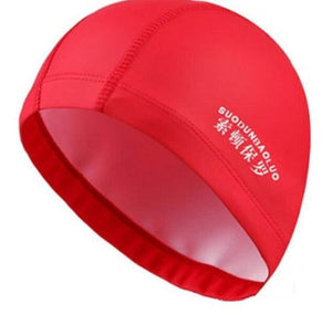 New 2019 Elastic Waterproof PU Fabric Protect Ears Long Hair Sports Swim Pool Hat Swimming Cap Free size for Men & Women Adults - MBMCITY