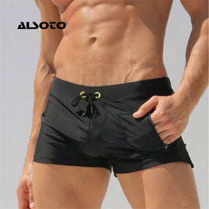 ALSOTO Sexy Man Swimwear Men's Swimsuits Swimming Trunks Sunga Hot Mens Swim Briefs Beach Shorts Mayo Sunga Swim Suits Gay Pouch - MBMCITY