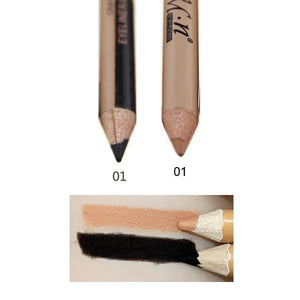 Professional 2 in 1 Double-end Make Up Waterproof Eyebrow Pen + Foundation Base Contour Makeup Face 2