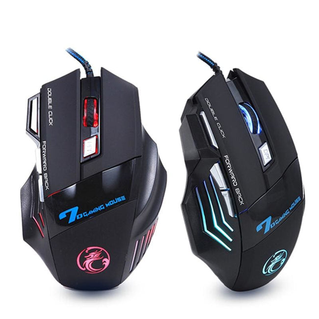 Professional Wired Gaming Mouse 7 Button 5500 DPI LED Optical USB Computer Mouse Gamer Mice X7 - MBMCITY