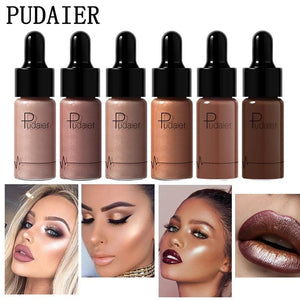 Pudaier Highlighter Liquid Concealer Brighten Face Contour Makeup Glitter Liquid Illuminate