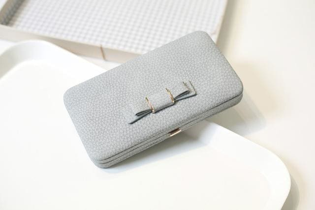 Purse Wallet Female Famous Brand Card Holders Cellphone Pocket Gifts For Women Money Bag Clutch 505 Gray