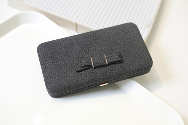 Purse Wallet Female Famous Brand Card Holders Cellphone Pocket Gifts For Women Money Bag Clutch 505 Black