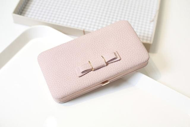 Purse wallet female famous brand card holders cellphone pocket gifts for women money bag clutch 505 pink