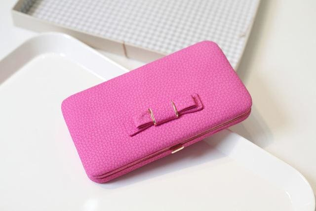 Purse Wallet Female Famous Brand Card Holders Cellphone Pocket Gifts For Women Money Bag Clutch 505 Hot Pink
