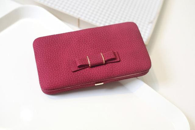 Purse Wallet Female Famous Brand Card Holders Cellphone Pocket Gifts For Women Money Bag Clutch 505 Red