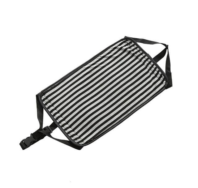 Qehiie Brand Travel Pad To Avoid Long Foot Can Also Rest Travel Essential Essential Airplane Pad Black Stripes Togeth