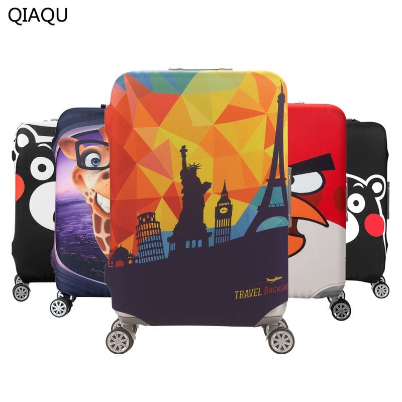 QIAQU Brand Travel Thicken Elastic Color Luggage Suitcase Protective Cover Apply to 18-32inch