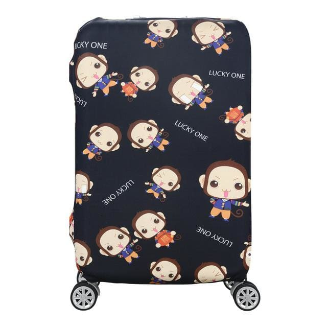 Qiaqu Brand Travel Thicken Elastic Color Luggage Suitcase Protective Cover Apply To 18-32Inch I / S