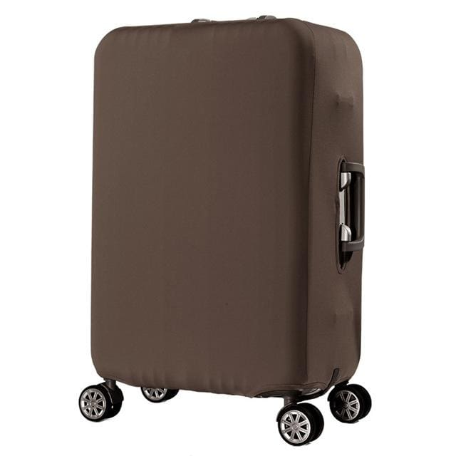 QIAQU Brand Travel Thicken Elastic Color Luggage Suitcase Protective Cover Apply to 18-32inch Brown / S