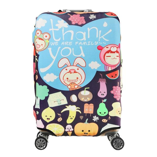 QIAQU Brand Travel Thicken Elastic Color Luggage Suitcase Protective Cover Apply to 18-32inch Q / S