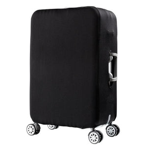 QIAQU Brand Travel Thicken Elastic Color Luggage Suitcase Protective Cover Apply to 18-32inch black / S