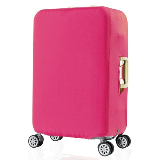 QIAQU Brand Travel Thicken Elastic Color Luggage Suitcase Protective Cover Apply to 18-32inch rose Red / S