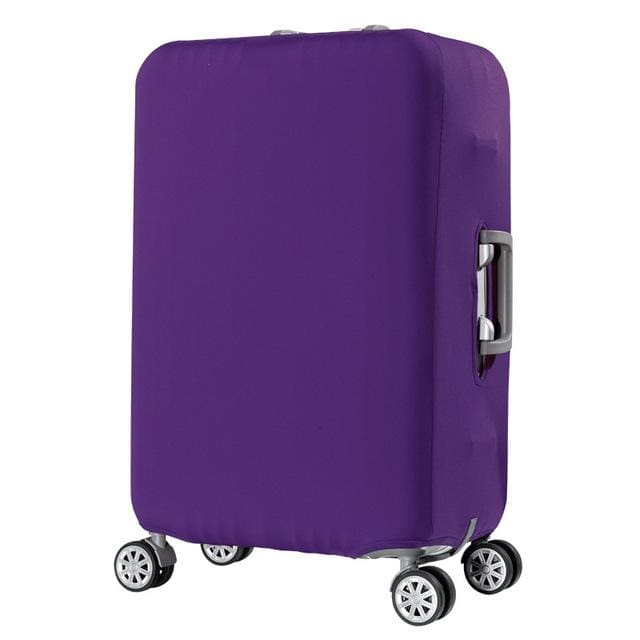 Qiaqu Brand Travel Thicken Elastic Color Luggage Suitcase Protective Cover Apply To 18-32Inch Purple / S