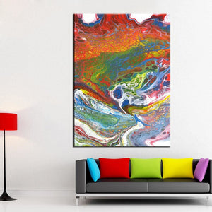 QKART Posters and Prints Modern Abstract Wall Art Oil Painting Wall Pictures for living Room Home.