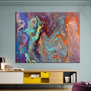 Qkart Wall Art Prints Wall Pictures For Living Room No Frame Home Decor Abstract Oil Canvas Painting