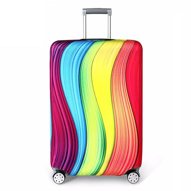 REREKAXI Elastic Fabric Luggage Protective Cover Suitable18-32 Inch Trolley Case Suitcase Dust B / S
