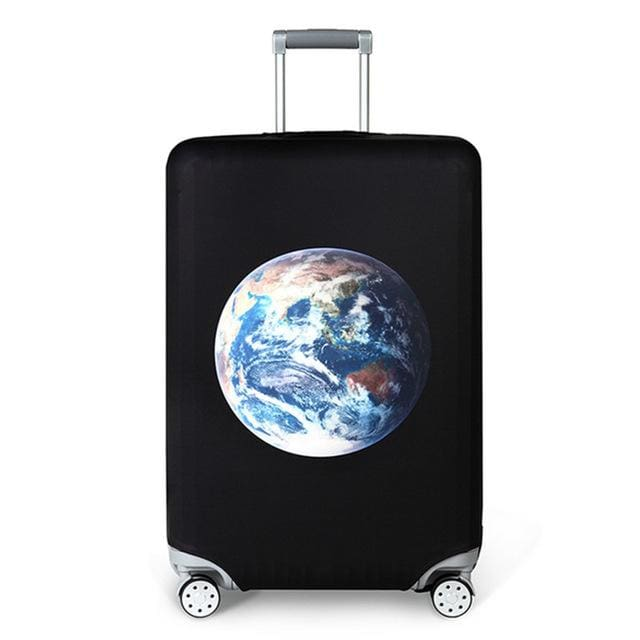 REREKAXI Elastic Fabric Luggage Protective Cover Suitable18-32 Inch Trolley Case Suitcase Dust J / S