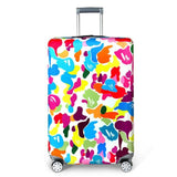 REREKAXI Elastic Fabric Luggage Protective Cover Suitable18-32 Inch Trolley Case Suitcase Dust H / S