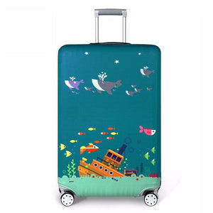 REREKAXI Elastic Fabric Luggage Protective Cover Suitable18-32 Inch Trolley Case Suitcase Dust C / S