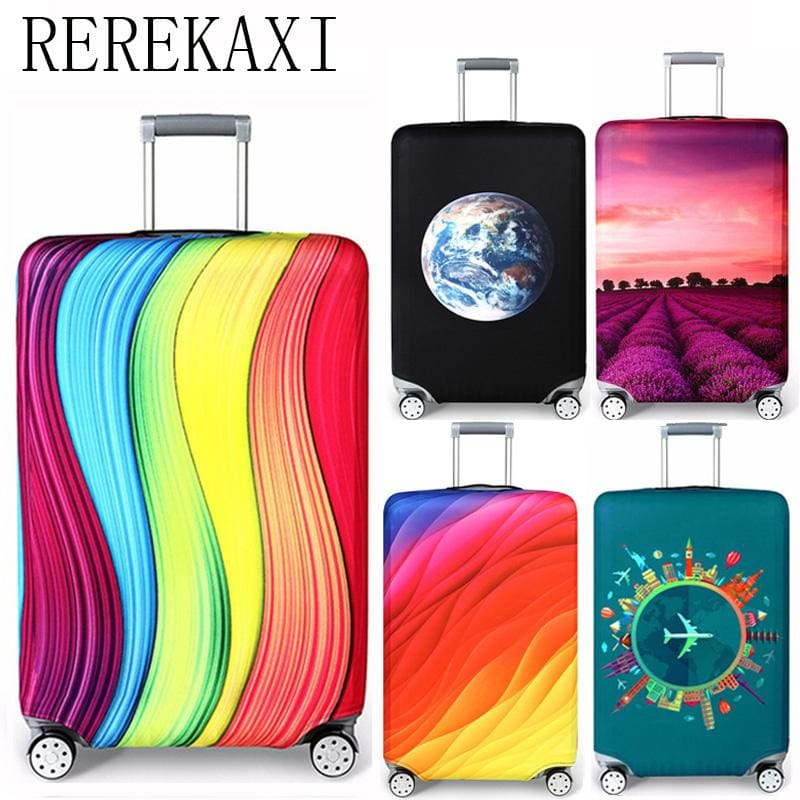 Rerekaxi Elastic Fabric Luggage Protective Cover Suitable18-32 Inch Trolley Case Suitcase Dust