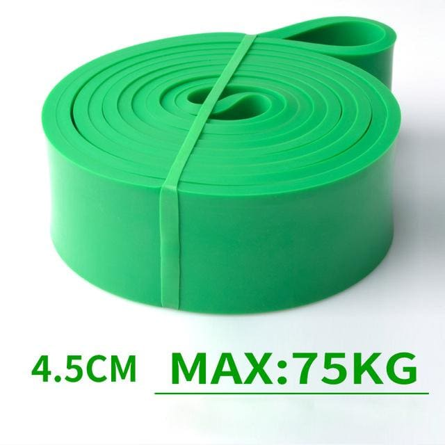 Resistance Band Exercise Elastic Band Workout Ruber Loop Crossfit Strength Pilates Fitness Equipment Green