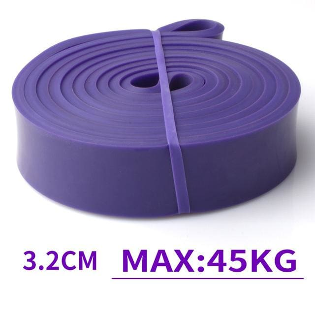 Resistance Band Exercise Elastic Band Workout Ruber Loop Crossfit Strength Pilates Fitness Equipment Purple