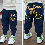 Retail 2017 New spring autumn cotton kids pants Boys Girls Casual Pants 2 Colors Kids Sports