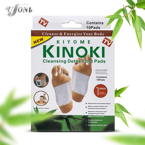 Retail box 10Boxes Cleansing Detox Foot Kinoki Pads Cleanse Energize Your