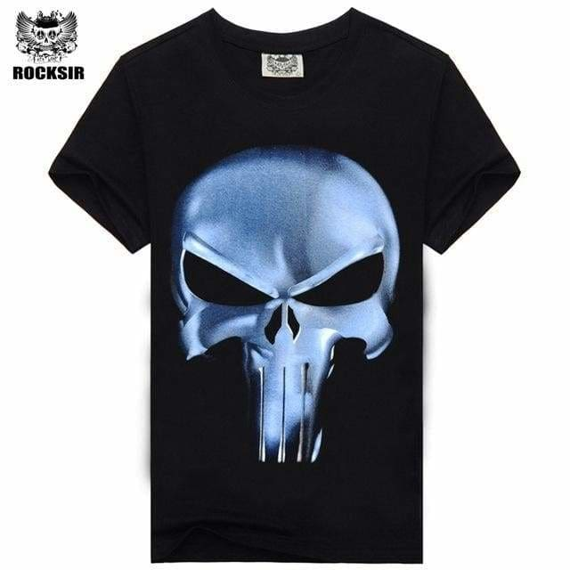 Rocksir Punisher T Shirts For Men T Shirt Cotton Fashion Brand T Shirt Men Casual Short Sleeves The Txsmt76 / L