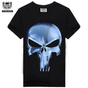 Rocksir Punisher T Shirts For Men T Shirt Cotton Fashion Brand T Shirt Men Casual Short Sleeves The Tx-Smt-50 / L