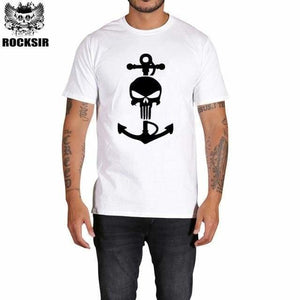 Rocksir Punisher T Shirts For Men T Shirt Cotton Fashion Brand T Shirt Men Casual Short Sleeves The Gxbdy149Wt / L
