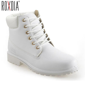 ROXDIA autumn winter women ankle boots new fashion woman snow boots for girls ladies work shoes plus