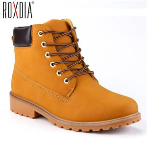 ROXDIA Faux Suede Leather Men Boots Spring Autumn And Winter Man Shoes Ankle Boot Mens Snow Shoe