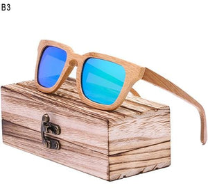Rtbofy 2017 Wood Sunglasses Men Square Bamboo Sunglasses Vintage Wood Hd Lens Frame Handmade Sun C4 / China