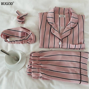 Rugod Summer 2017 New Fashion Women Pajamas Turn-Down Collar Sleepwear 2 Two Piece Set Shirt+Shorts