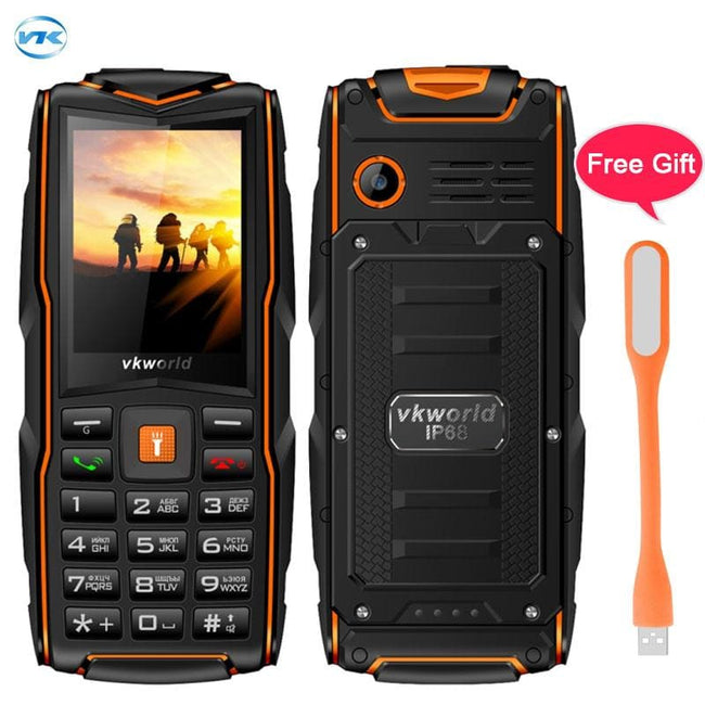 Russian Keyboard Vkworld New Stone V3 Triple Sim Mobile phone Waterproof IP68 2.4 inch SC6531CA - MBMCITY